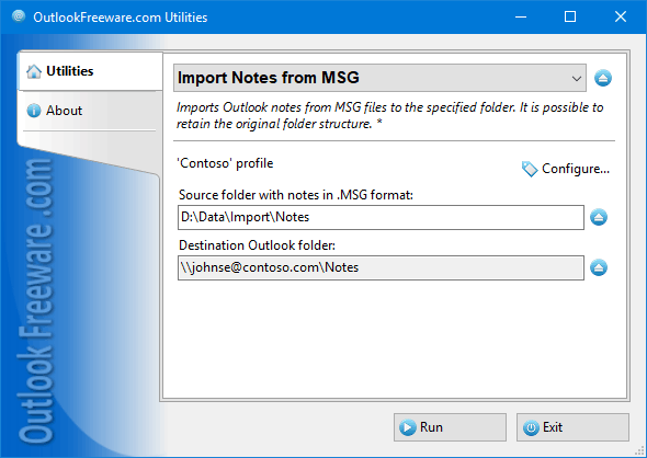 Import Notes from MSG Files