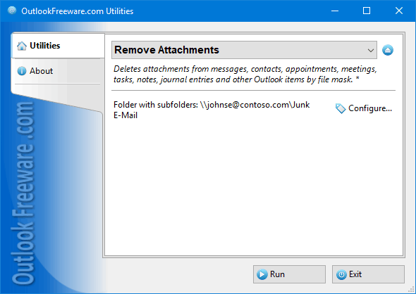 Free Outlook attachment remover.