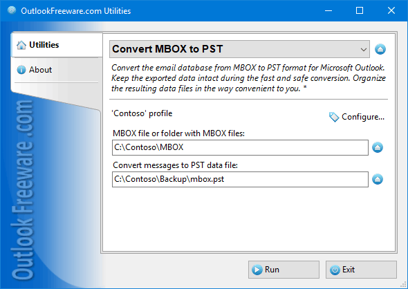 Free MBOX to PST converter for Outlook.