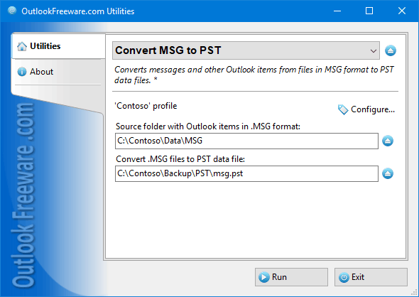Convert Outlook MSG to PST 4.10