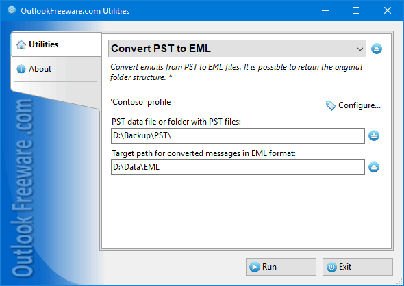 Convert PST to EML for Outlook