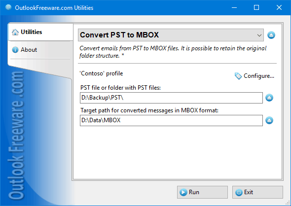 Convert PST to MBOX for Outlook