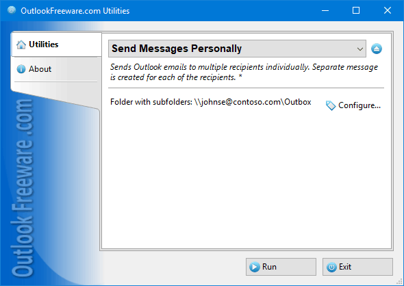 Free download Send Messages Personally for Outlook