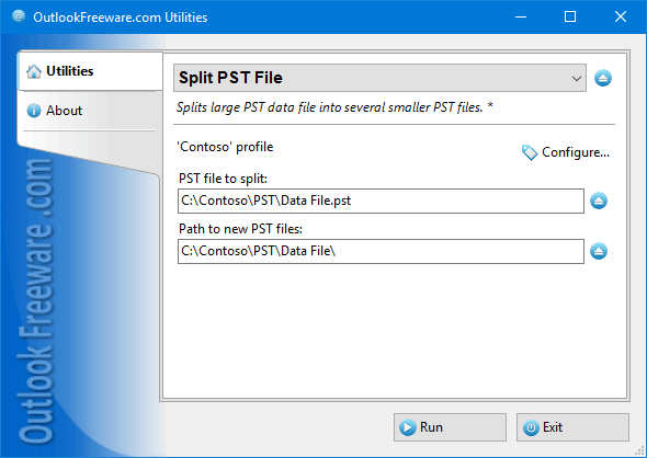 Split PST File for Outlook