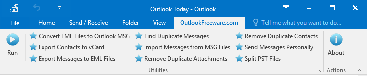 Most Frequently Used Recipients - Outlook Freeware