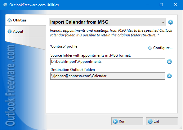 Import Calendar Items from MSG Files for Outlook
