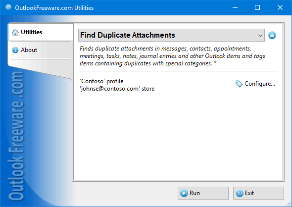 Find Duplicate Attachments for Outlook