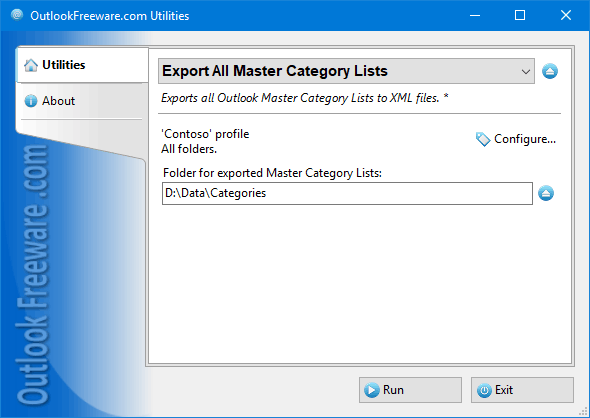 Export All Master Category Lists for Outlook