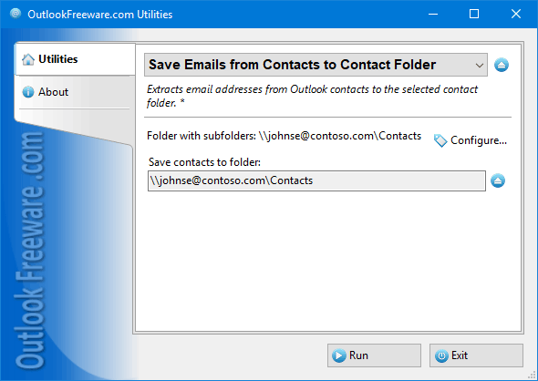 Save Emails from Contacts to Contact Folder for Outlook