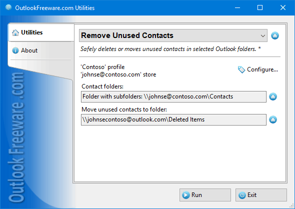 Remove Unused Contacts for Outlook