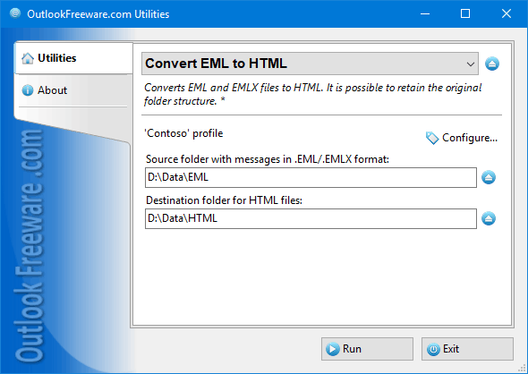 Convert EML to HTML for Outlook
