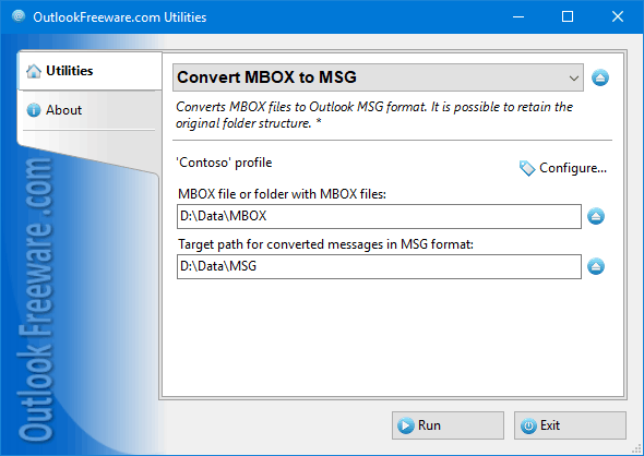Convert MBOX Files to Outlook MSG