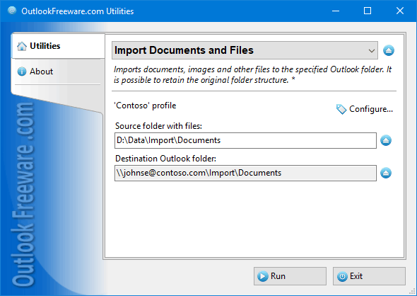 Import Documents and Files for Outlook