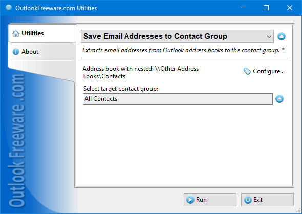 Save Email Addresses to Contact Group for Outlook