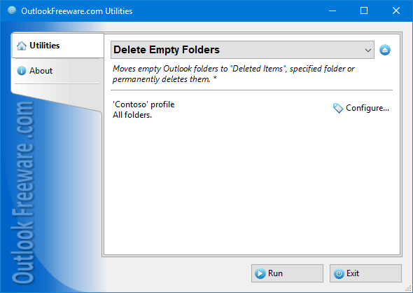 Delete Empty Folders for Outlook