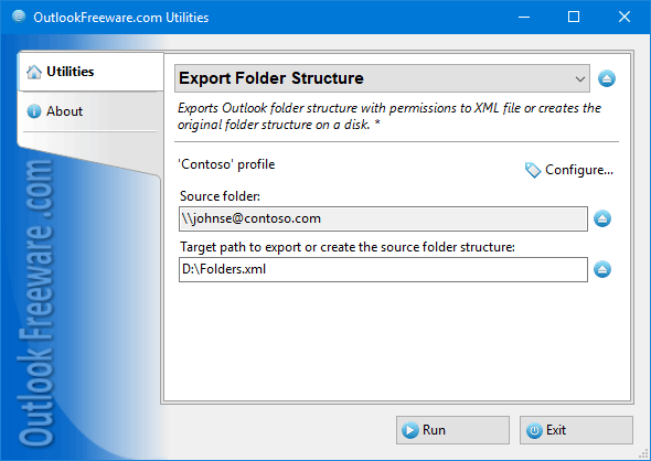 Export Folder Structure for Outlook
