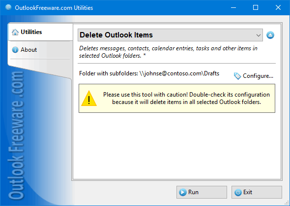 Delete Outlook Items