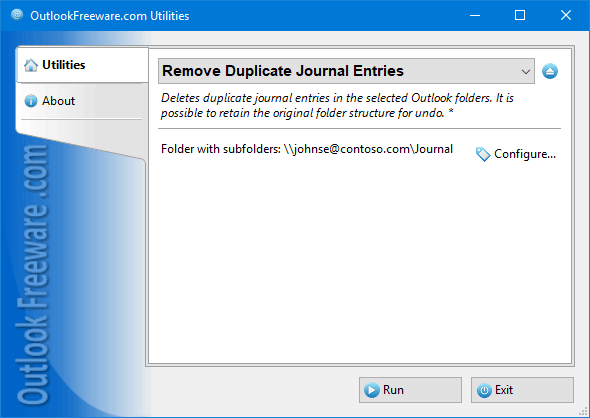 Remove Duplicate Journal Entries for Outlook