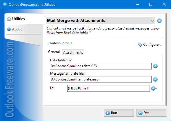 Mail Merge with Attachments for Outlook