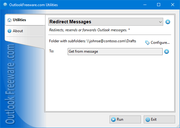 Redirect Messages for Outlook