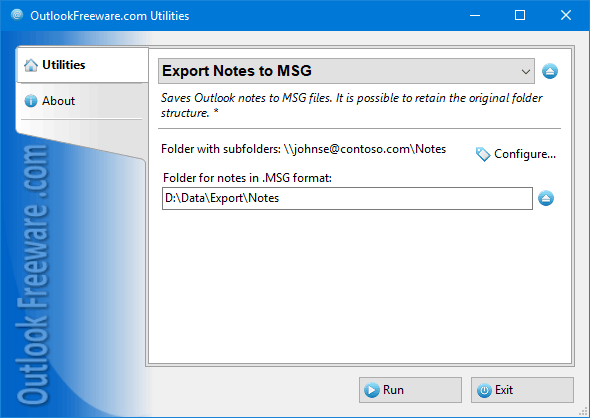 Export Notes to MSG for Outlook