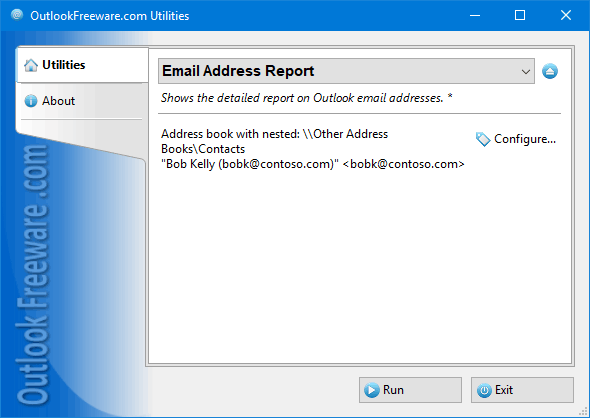 Email Address Report