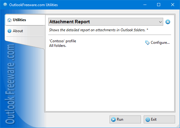 Attachment Report for Outlook