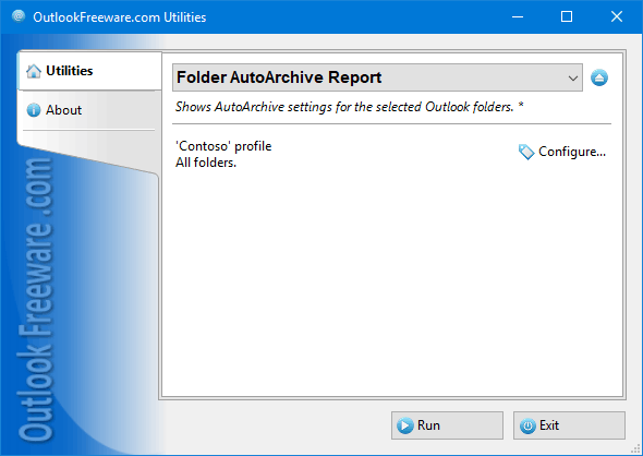 Folder AutoArchive Report for Outlook