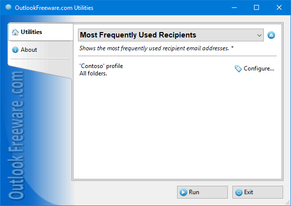 Most Frequently Used Recipients for Outlook